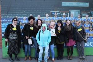 Volunteers promoting Leeds Lads